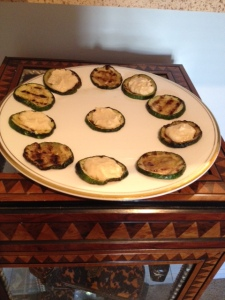 photo - zucchini and hummus