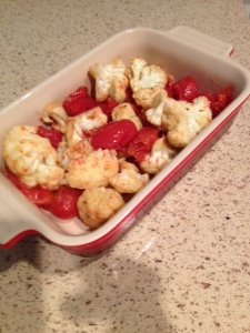 photo - cauliflower and tomatoes